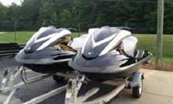 Year : 2008Color : blackMileage : 63 MilesLocation : United StatesSelling a PAIR of 2008 Yamaha Fxho (High Output) Jet skis in great condition, They only have 63 and 71 hours. The skis are completely stock with no modifications ever done. They are 3