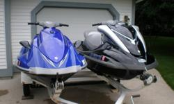 2- 2008 Yamaha Waverunners *low hrs* These are two almost new Yamaha Waverunners low hrs. One is a 2008 Yamaha FX HO waverunner with 160 hp. It is a three seater with a top speed of 65 mph. This waverunner is also equipped with trim control on the handle