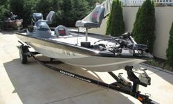 2009 Bass Tracker 190 Series.90Hp Mercury Optimax With 54 Hours and runs perfect.The boat is a very clean boat with a few minor scratches ( Very Minor).Everything works the way it suppose to.It has onboard charging system.Lots of storage.Rod boxes.46 Lb