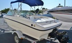 2009 Bayliner 175 boat is in good condition. The gelcoat has a nice shine to it and the seats we just redone. It is powered by a 3.0L Mercruiser engine and Alpha one outdrive. This boat has plenty of power to pull a ski or tube. The captain and passenger