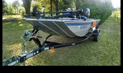 2009 G3 Eagle 165 PF Aluminum Boat, Yamaha 50 HP Four Stroke and Heavy Duty Trailer, Less than 100 hrs on boat, motor and trailer. All-welded,100 gauge hull. Painted urethane high-gloss color with custom graphics. Marine grade floor and decks. 2008