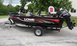 2009 Lowe FM165 side console, deep-v, all welded fishing boat package. It has less than 20 hours on it. The boat is 16? 5? in length and is 82? wide. It includes the Mercury 40 HP 4 stroke EFI outboard that is actually a 2010 model (Mercury warranty thru