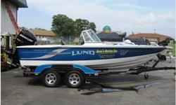 2009 Lund 197 Pro-V GL DEMO! This boat is equipped with a custom tandem axle trailer, with brakes, spare tire and mount, swing tongue, aluminum rims, Mercury 9.9hp 4our stroke pro kicker, motor support bracket, sea star hydraulic steering, full cover, 6