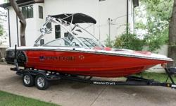 2009 Mastercraft X45,2009 Mastercraft X45 - 110hrs on LY6 400HP engine. All freshwater hours. Seating capacity of 18. Full KGB Ballast. Four tower speakers with lights. Underwater LED lights. Everything works. Mastercraft Tandem Axle trailer included.