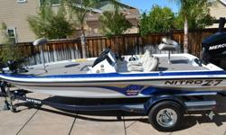"""Recent FULL Service completed 02/2015 that included the following:Install of Brand new Minn-Kota """"Fortrex"""" 80lb thrust/24 volt trolling motor with built-in transducer.Service of engine/hour log scan and trailer for safety. Engine hours are a verified"""