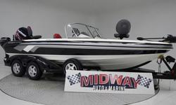 One owner, just traded in on one of our new Larson FX Fishing boats. Always garaged. fully serviced and comes with warranty. Must have deposit to hold. 225hp plus 9.9 kicker and I-pilot trolling motor.Don;t settle for a Model T alumaboat. Go Glass!