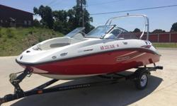 I'LL RESPOND ONLY THROUGH PHONE SO PLEASE LEAVE ME YOUR NUMBER. THANKS! THIS IS A 2009 SEA DOO CHALLENGER 180 WAKETOWER WITH TRAILER AND FOLD AWAY TONGUE. THIS IS A ONE OWNER BOAT AND IS IN NICE CONDITION. THE BOAT HAS BEEN USED SO THEREFORE ITS NOT