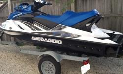 This 2009 Sea Doo GTX 215 is in very good condition with less than 20 hours on the original motor. The engine has been professionally maintained since its purchase in 2010. The battery was replaced last season. This PWC also includes the trailer and