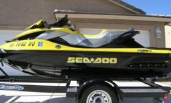 It seats 3 people and can easily tow a tube or skier.It is one of the fastest, safest, and most comfortable Sea Doos available today with a 255 hp Supercharged power plant. The boat has the new Bombardier Intelligent Suspension System, Intelligent