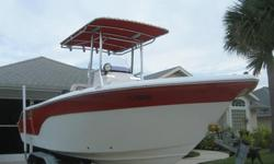 Fish in style and comfort. Aluminum leaning post with seat and removable back cushions. Side coaming pads. Console front seat and backrest. Enough room on board to fish, cruise or just hang out on for the day. Coast Guard rated for 8 people.Large enough