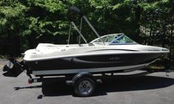 For Sale: Black/Silver 2009 Sea Ray 175 Sport. Powered by Mercruiser 3.0 Alpha One (135hp). The first day of summer is Saturday!It has been very well taken care of and only has 35 hours. We bought it new and are the only owners. It has only been used in