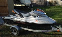 """****BRAND NEW CUSTOM SEAT WITH GRIP MATERIAL****ONLY 82 HRS********NEW BATTERY & SPRING SERVICED****READY FOR THE WATER NOW****Accessories included:LoadRite Trailer (You'll need a 2"""" Ball for Towing)Seadoo RXP-X CoverToolkitEngineType: 255 hp Supercharged"""