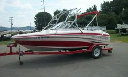 009 Tahoe Q4 with 2009 Mercruiser 3.0L 135 hp Inboard/Outboard Motor and 2006 Custom Tahoe Trailer.Boat is very Nice!! All Brand New Upholstery! Has one flaw on the side striping that is pictured.Has Bimini TopWakeboard TowerStainless Steel Cleats, Ski