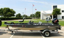 I'LL RESPOND ONLY THROUGH PHONE SO PLEASE LEAVE ME YOUR NUMBER. THANKS! VERY NICE 2009 TRITON TS 17 ALL WELDED ALUMINUM BASS BOAT WITH 50 HORSE POWER MERCURY MARINE ENGINE AND FACTORY MATCHED TRAILER, NO RESERVE. CLEAN CLEAR TITLES TO BOAT, ENGINE AND