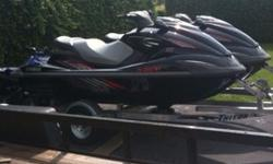 Identical jetski's with factory covers, extended warranties and double Triton aluminum trailer. These are in like new condition and we had fun over the summer. Well maintained, adult driven. We always fresh watered them and trailer. Low hours only 36