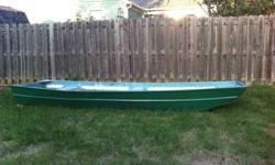 I have an aluminum 16' jonboat for sale. Its light and easy to drop in and out. It has good paint on the outside and bottom and just sanded down on the inside. $200 obo Call or text or email (click to respond) Also have early 1990's Johnson electric start
