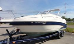 ,,,....2001 Glastron GS249 cruiser up for grabs to the highest bidder! Engine is mechanically sound, structure is sound, interior needs some TLC! Trailer is in good shape. This is an AS-IS auction and boat will be sold as is where is. We do have the