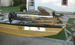 This 46lb thrust foot controlled Motor Guide trolling engine was new when mounted on the boat but never pre-owned! The steering control works well and there is no damage. The boat, trailer, and outboard are also for sale in other ads. Call Dale at