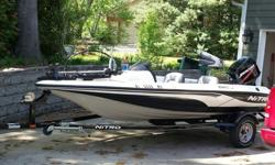 ...........2007 Nitro 640LX bass boat with matching Nitro trailer. 16? length Fiberglass hull with matching marine grade carpet. Color is White/Black.This boat has been garage kept and has only been used in freshwater lakes. Boat is in excellent condition
