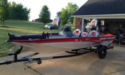 VERY NICE 2010 Bass Tracker Pro Team 175. It is powered by a very reliable and low hour Mercury 50hp Oil Injected 2 Stroke. This boat/motor has less than 30 hours on it. It is a one owner boat and was used for a very short time on Pickwick Lake in Tn.
