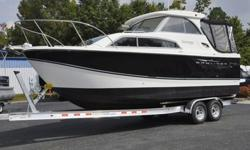 pretty Discovery! With a generator and A/C, it is set up for daytime cruising and night time enjoyment! With low hours on the gen set (51hrs), the boat has not been greatly used. The engine hours are only 196 so that equates to less than 40 hours per