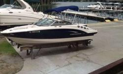 2010 Chaparral 196 SSI w/ Volvo 4.3GXI engine & no trailer. Boat has been stored in drystack at Lighthouse Marina and is in excellent condition with only 55 hours. Options include: Bimini top, Garmin GPS, depth finder, stereo, battery switch, cooler and