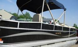 Used 2010 Factory Demo--MidAmerican 22' pontoon--P220. It is powered by a Mercury 50 HP outboard motor--model 500 EL79A, serial # 5111433.; no tilt & trim.I am unsure of the year but I think it is a 1979-1983. It has been tested and is a good running