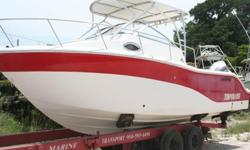 I'll respond ONLY through phone so please leave me your number. Thanks! This 2010 25' Sea Fox 25 Pro Series Walk Around with Cuddy Cabin is a theft recovery. Hull is in good condition with chalky gelcoat. Red paint faded with scuffs and scratches on hull