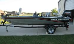 2010 Tracker Pro Crappie 175 with 50hp Mercury 2 stroke, tilt/trim, 46 lbs motor guide foot operated trolling motor, lowrance x50 fish finder, 2 livewells, single axle trailer, motor runs great with even compression on all 3, boat has very little use and