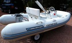 """Boat has been used on summer weekends at my cottage on a small WISCONSIN lake. It is wintered in a heated Garage..It is totally clean and in perfect shape. Length:11'2""""/ 221 lbs/5 Person capacity. Hull: HYPALON; Integrated injection molded separate floor,"""