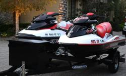 ,,,,,,Two Sea Doo Wake 215swith 2008 Ziem Trailerhours:31-52 Both watercrafts just received full service by local dealer. Also included in auction:(2) Sea Doo watercraft custom fit covers.(4) life safety vests(1) Sea Doo ballast system for 2008