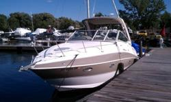 Stock Number: 714455. The boat is a Cruiser Yacht 300 Express powered by twin Volvo Penta 5.0L gas engines with duo prop stainless outdrives. Purchased brand new in 2011, we have always boated in fresh water along Lake Erie and the Niagara River.