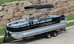 """Bentley/Encore 220 Cruise Elite Pontoon. With Only 45 Hours On This Entire Boat She Is Barely Used And In Excellent Condition. This Ride Is Tons Of Bang For The Buck! Finished In A Special Edition """"Elite"""" Paint Scheme With Contemporary Interior"""