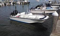 Up for sale is my 2011 17' Boston Whaler Montauk. It has the factory installed Mercury 90HP (SN:1B855952) Four Stroke with stainless steel propeller, and the Boston Whaler trailer. I bought it brand new from an authorized Boston Whaler dealer in 2012. I