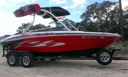 This is an awesome all-around ski/pleasure/speed boat!! Captain's Call exhaust...300 horsepower MerCruiser 350 MAG. MerCruiser Bravo One Sterndrive. This boat has all the upgrades and has been fresh water only, lots of power, stereo done by Custom Audio