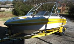 2011 GLASTRON 205 GT, 4.3 FUEL INJECTED 220 H.P., 80 HRS., TOWER WITH RACK, SNAP IN CARPET, TILT WHEEL, D.F., EXTENDED SWIM PLATFORM, FLIP UP BUCKET, WALK THRU TRANSOM, STEREO, TRAILER WITH BRAKES AND SWING AWAY TONGUE. NO TEXT GO TO MARINEWORKS.NET FOR