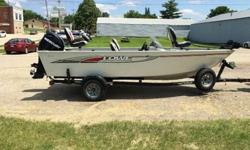 2011 Lowe FM165 This is a Lowe FM 165 that is powered by a Mercury 60 EFI 4 Stroke. This boat is equipped with the following options: Minn Kota 55 PowerDrive with iPilot and Removable Mount, Lowrance Elite 5 GPS/Fishfinder, Stainless Steel Prop, 4 Fishing