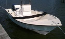 2011 May-Craft 1800 Skiff Known for its outstanding utilization of space, the 1800 Skiff safely stows away all of the things you don't need to see and leaves the deck space free for enjoying your sport. A full console with electronics box protects your