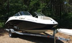 I'll respond ONLY through phone so please leave me your number. Thanks! 2011 Sea Doo 180 Challenger with 255 hp Supercharged-Intercooled Engine with only 28 hours of run time. Black with white hull (includes anti-FOG coating on hull). Includes bimini top,