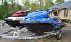 A 2008 KAWASAKI ULTRA 250X SUPERCHARGED 3 SEATER and a 2011 SEADOO GTX 155 3 SEATER.Both have extremely low hours. Always adult driven, never beached or scratched up in any way. Always in fresh water only. Deal comes with a Triton galvanized double