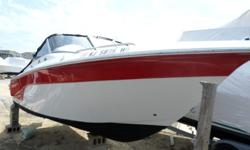 LOADED WITH EXTRAS COLORS ARCTIC WHITE & RUBY RED BOW RIDER FULL CANVAS BIMINI TOP MOORING COVER FULL PLASTIC WINDOWSGARMIN 441 S DEPTH/FISH FINDER GPS JENSEN AM/FM 4 SPEAKERS MP 3 ADAPTER SKI TOW BARPRIVATE HEADLIVE WELL DUAL BATTERIES WITH SWITCH & MUCH
