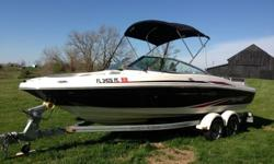 ? ? ? ?????IF YOU HAVE INTEREST IN BUYING PLEASE REPLY WITH YOUR CELL PHONE# AND I CALL OR TEXT BACK FAST!!!?????? ? ? ?Maybe you and your neighbour can go halves? Either way this 2011 model SeaRay has you covered with its 4.3L MPI 220 hp Alpha. Whether