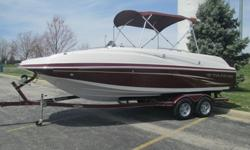 2011 Tahoe 225 deck boat built by tracker marine. it comes fully lake ready with a trailer, cover and a fresh oil change. this deck boat has the 5.0 V8 mercruiser MPI engine that puts out 260hp. the interior of this boat is in great shape with no tears,