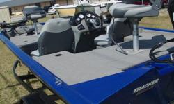NICE CLEAN BOAT ,WITH MERCURY 60 HORSEPOWER 4 STROKE MOTOR , ALL FACTORY FISHING EQUIPMENT , FULL CARVER BOAT COVER . TRACKER TRAILER WITH FOLD AWAY HITCH .Beam: 7 ft. 5 in.Fuel tank capacity: 12 .Max load: 1090 .Standard features: ~Comfort, Safety &