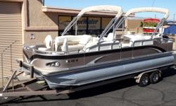 """http://www.gotwatermarine.com/Consignment_2012_Windjammer_Fishing_Triple_Tube_Pontoon_24_70765.htmlFishing and luxury pontoon cruising have never been combined better than with the Windjammer Fish N Fun. The """"Quad Fishing"""" style will allow you to fish"""