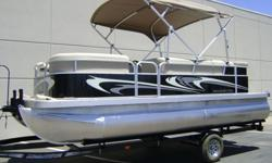 2012 Bennington 20 SLi -Mercury 60Hp Big Foot -Sport Graphics -Reclining Helm -In Dash Graph and Depth Finder -Tilt Steering -Docking Lites -Privacy Option -Sport Package -Chrome Letters and Logos -Bimini Top -Full Mooring Cover Action Water Sports 1320