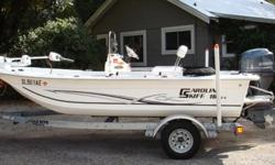 2012 Carolina Skiff 16 JVX is ready for some serious fishing to say the least! Outstanding features throughout that are sure to impress the most avid angler. Start off with its' smooth running, quiet Yamaha 60 HP Four Stroke engine with only 39 hours that