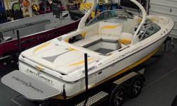 2012 Centurion Elite V C4 Wakeboard & Wakesurf Boat PCM Engine *NEW W/ WARRANTY*-Includes BoatMate Tandem Axle Trailer w/ Brakes, Load Guides, Swing Tongue, & Prop Guard.-Engine: PCM 5.0L H.O.(High Output) MPI 303 HP-Options Included: Yellow Gel Stripe,