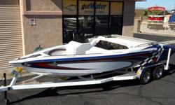 """http://www.gotwatermarine.com/Consignment_2012_Cheetah_V-Dart_Open_Bow_Jet_Boat_Grath_23.htmlWith only 7 hours on this """"Dog House"""" jet boat, you will have a NEW boat, but not at the NEW boat price! Many extras including double swim padded platforms with"""