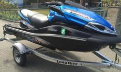 I AM SELLING MY 2012 KAWASAKI ULTRA 300X SUPERCHARGED.I PURCHASED THE JETSKI BRAND NEW FROM LEDGEWOOD POWERSPORTS IN LEDGEWOOD NJ ON JUNE 15TH 2014 THIS WAS BRAND NEW IN THE CRATE IT WAS A LEFT OVER.COMES WITH A WARRANTY AND A 2014 LOAD RITE ALUMINUM